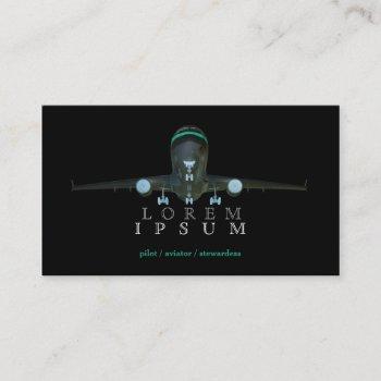 pilot aviator stewardess plane sky air post fly business card
