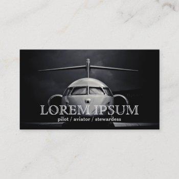 pilot aviator stewardess plane sky air post port business card