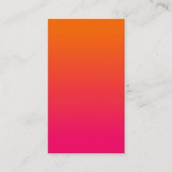 pink and orange ombre business card
