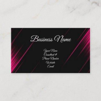 pink & black calligraphy consultant business card