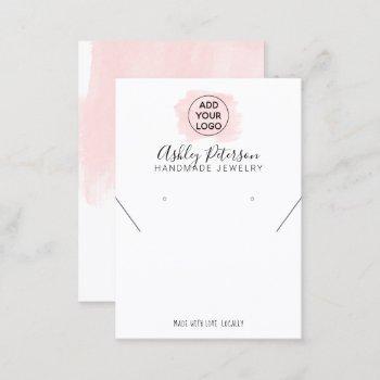 pink brushstroke logo  jewelry earring necklace business card