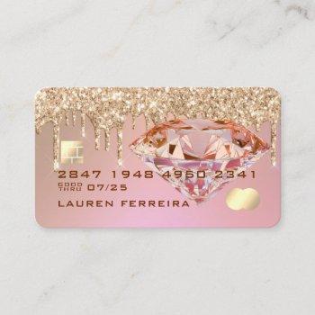 pink diamond credit card design