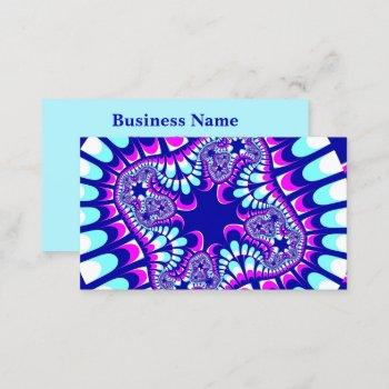 pink ice flower business card