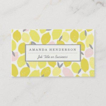 pink lemonade business cards