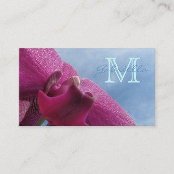 pink orchid : monogram business cards
