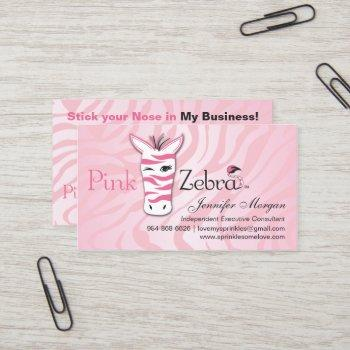pink zebra at home business card
