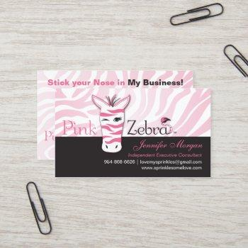 pink zebra business card