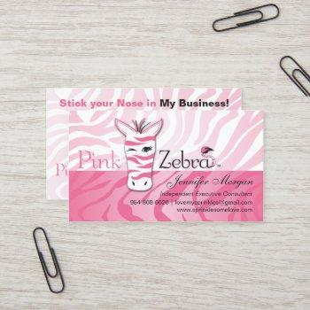 pink zebra business cards