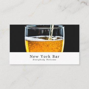 pint of beer, pub/brewery business card