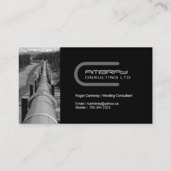pipeline welder business card