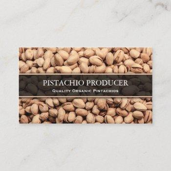 pistachio producer / farmer photo business card