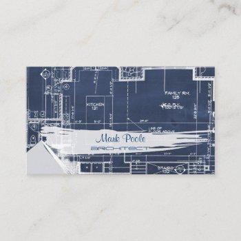pixdezines chalkboard architect blueprints business card