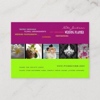 pixdezines wedding planners/diy colors+fonts business card