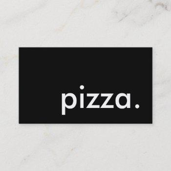 pizza. (color customizable) business card