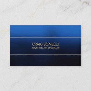 plain blue gold yellow business card