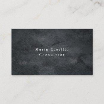 plain elegant grey texture minimalist modern business card