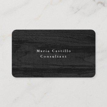 plain elegant grey wood texture minimalist modern business card