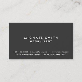 plain elegant professional black modern simple business card