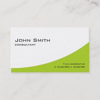 plain professional green elegant modern computer business card