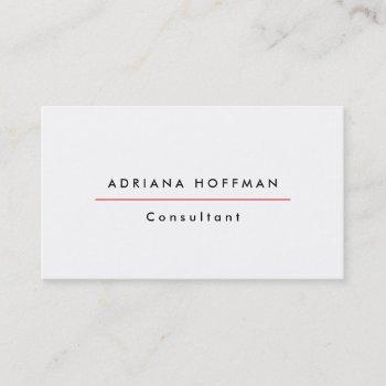 plain simple black white professional minimalist business card