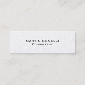 plain skinny rounded corner business card