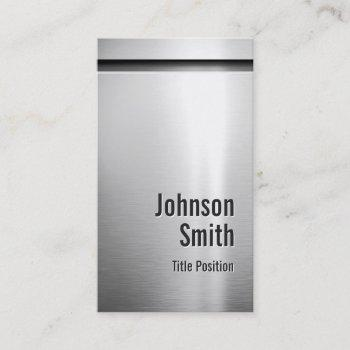 platinum aluminum stainless steel look business card