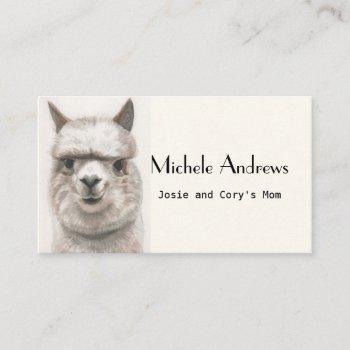 play date mom card cards cute llama alpaca