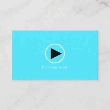 play logo minimalist elegance sky blue business card