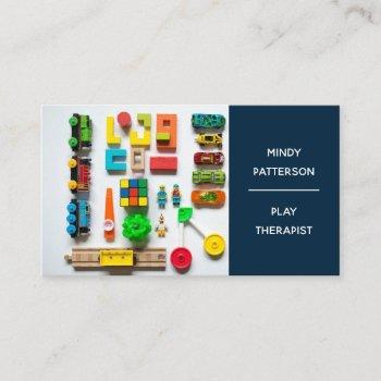 play therapist child psychologist counselor toys business card