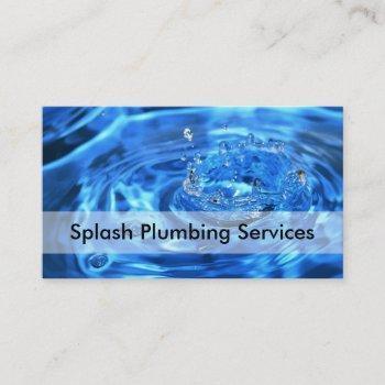 plumber business card design