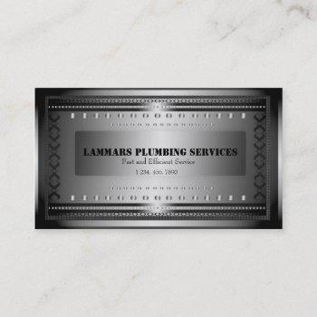 plumbers plumbing service business card