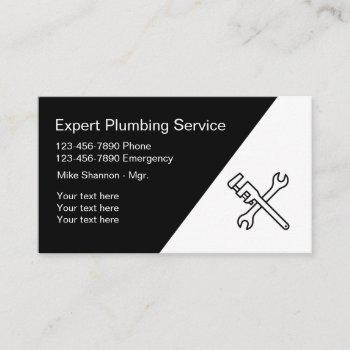 plumbing professional design business card