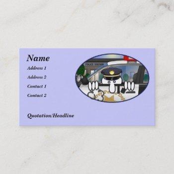 police kilroy business card