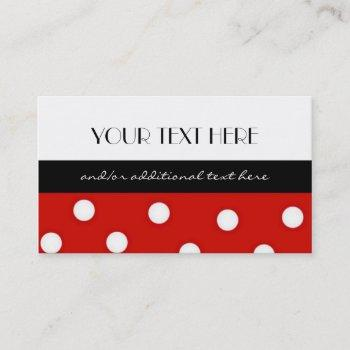 polka dot business card