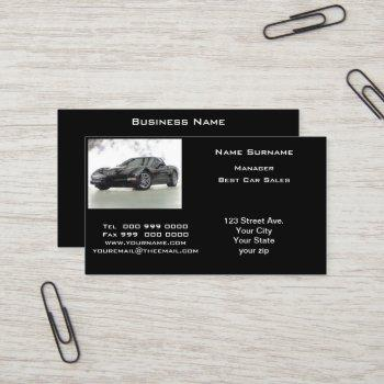 popular automotive sales business card