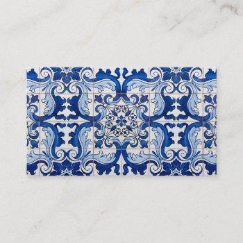 portuguese glazed tiles business card