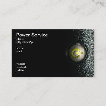 power service business card