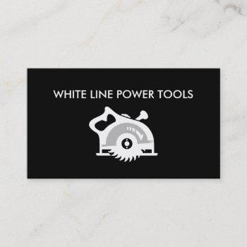 power tools business cards