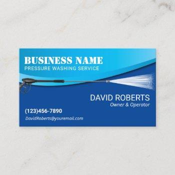 power wash pressure washing modern blue cleaning business card