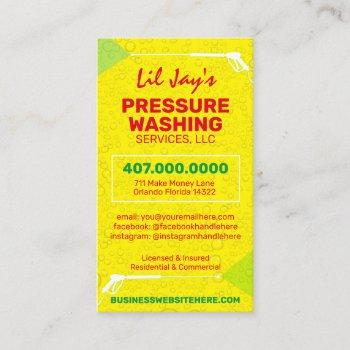 power washing & cleaning business card template