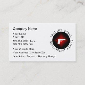 practice range business cards
