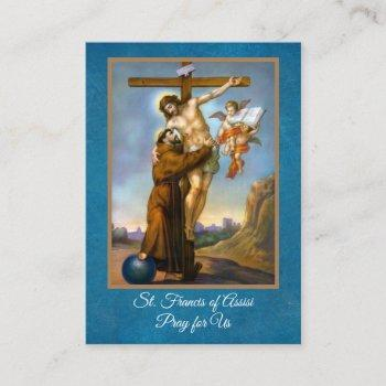prayer of st. francis of assisi holy cards