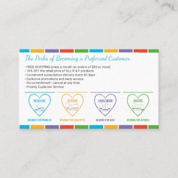 preferred customer perks business card