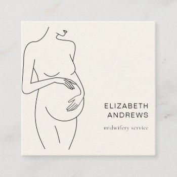 pregnant woman-simpel-modern business card