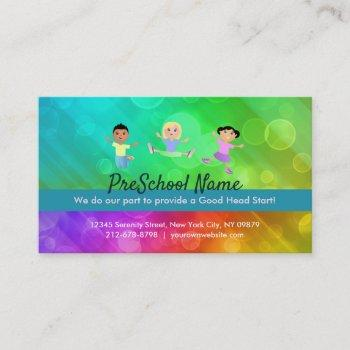 preschool slogans business card