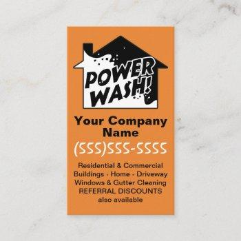 pressure cleaning power wash marketing advertising business card