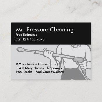 pressure cleaning & sandblasting services business card