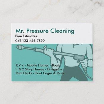 pressure cleaning & washing business card