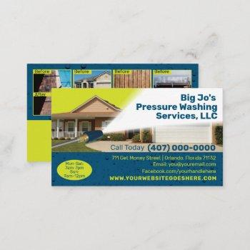 pressure /power washing business card