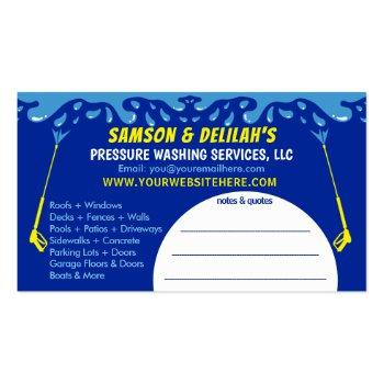 Small Pressure Washing & Cleaning Business Card Template Back View